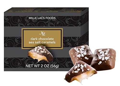 24 Boxes Dark Chocolate Sea Salt Caramels 2 Ounces Each Popular Holiday Party Catering Bulk Best Supplies Corporate Business Employee Teacher Couple Family Top Stocking Stuffer Gift Basket Favors