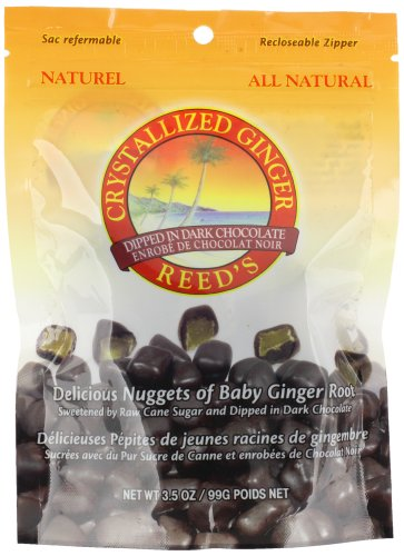 Reed's Chocolate Dipped Crystallized Ginger Chews, 3.5 Ounce (Pack of 12)