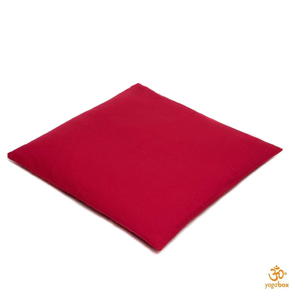 yogabox Zabuton 100x100 cm Made in Germany, Rojo: Amazon.es ...