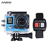 "Andoer 4K 30fps/1080P 60fps Full HD 16MP Action Camera Waterproof 30m WiFi 2.0""LCD Sports DV Cam Camcorder 170 Degree 4X Zoom Dual Screen Car DVR w/ Remote Control Andoer"