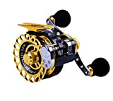 Ellen Archery Inline Ice Fishing Reel Right/Left in Line Ice Reel with 8+1 Ball Bearings (Left)