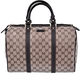 Gucci 265697 Women's Crystal Canvas & Leather Guccissima GG Boston Purse