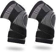 Vitoki Compression Knee Sleeve Knee Brace for Men & Women Knee Support for Running, Crossfit, Basketball,