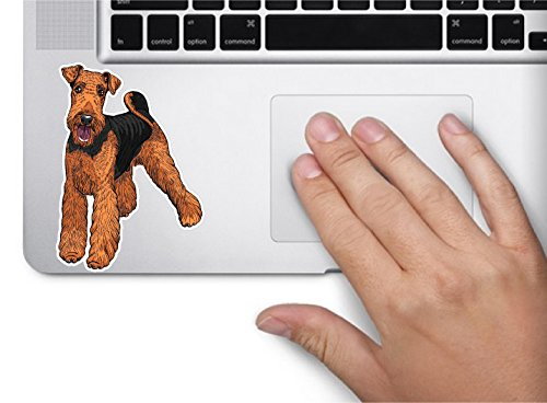 - Dog airedale terrier 3.5x2.4 inches sticker decal die cut vinyl - Made and Shipped in USA
