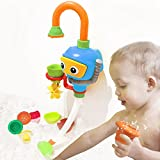 Baby Bathtub Toy Diver Game - Happytime Water Toys 3 Stackable and Nesting Cups, Submarines and Spout (No Batteries Required and Color in Random)