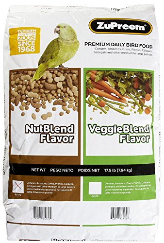 ZUPREEM 230364 Nutblend Flavor Caged Medium and Large Bird Food, 17.5-Pound by ZuPreem
