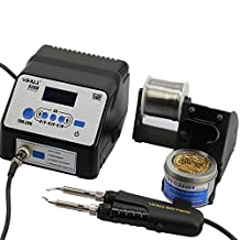 YIHUA 938D Intelligent Portable LCD Display 3-Section Storage Soldering iron Station ESD with Inbuilt Tweezer