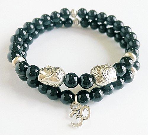 Black Agate Yoga Wrist Bracelet