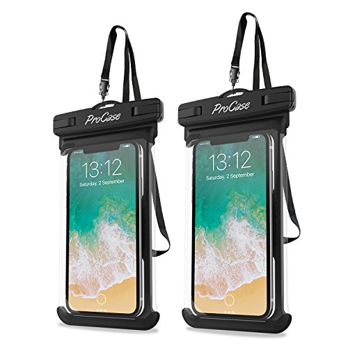 ProCase Universal Waterproof Case Cellphone Dry Bag Pouch for iPhone Xs Max XR XS X 8 7 6S Plus, Samsung Galaxy S10 Plus S10 S10e S9 S8 +/Note 9, Pixel 3 XL HTC LG Sony Moto up to 6.5