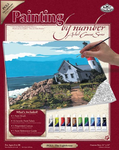 Royal & Langnickel Painting by Numbers Large Canvas Painting Set, The - Store Lighthouse