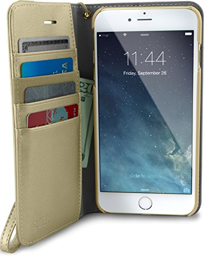 Silk iPhone 7 Plus/8 Plus Wallet Case - FOLIO WALLET Synthetic Leather Portfolio Flip Card Cover with Kickstand -