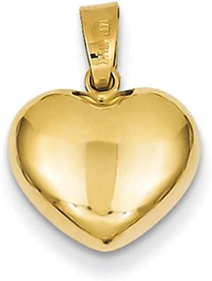 14K Yellow Gold 3-D Puffed Star Charm
