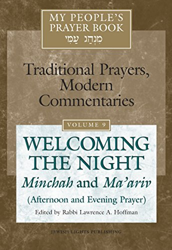 Prayer Night Light - My People's Prayer Book: Welcoming the Night Minchah and Ma'ariv (Afternoon and Evening Prayer)