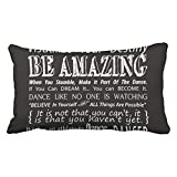 Emvency Throw Pillow Covers Carries Inspirational Dance Quotes Black Decor Pillowcases 20 x 36 Inch King Size Rectangle Pillow Cover Cushion Home Decorative Pillowcase Hidden Zipper