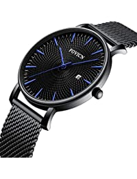 Watches, Mens Ultra Thin Blue Watch Minimalist Fashion...