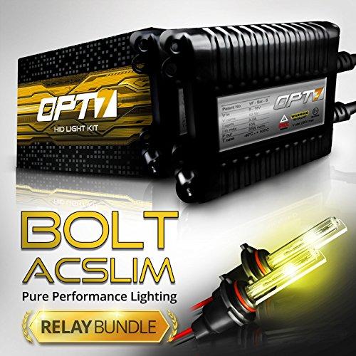Pro Magnum Retrofit (Bolt AC 35w Slim HID Kit - All Bulb Sizes and Colors - Relay Capacitor Bundle - 2 Yr Warranty [H10 (9145) - 3000K Fog)