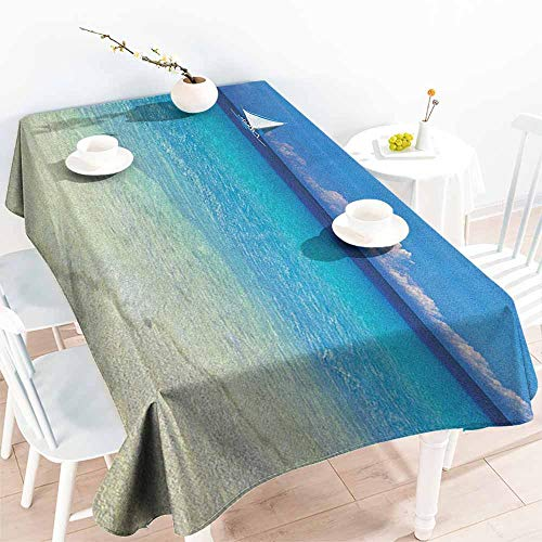 familytaste Nautical,Table-Cloth Home Decoration Exotic Tropic Beach in Philippines Island Horizon Summer Paradise Concept 52