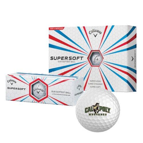 Cal Poly Callaway Supersoftゴルフボール12 / Pkg ' Calpoly Mustangs Primaryマーク' B00SI2EG7A