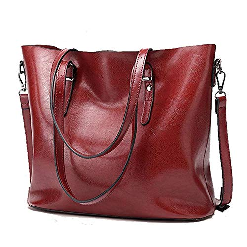 Purse …red Pu Satchel Leather Women Luxnewlife Tote Top Handle For Shoulder Bag Handbag Handbags qSzMpUV