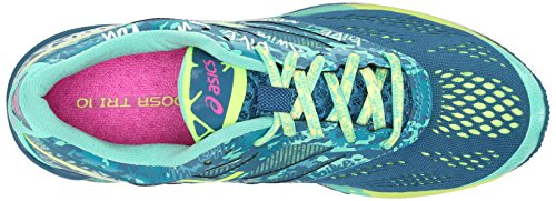 Asics Damen GEL Noosa Tri 10 Laufschuhe Mosaik Blau / Flash Gelb / Pink Glow