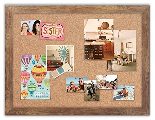 Framed Cork Board with Barnboard Frame