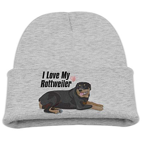 - Love My Rottweiler Baby Winter Cap Slouchy Knit Beanie Skull Hats