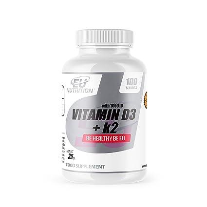 EU Nutrition Vitamina D3, K2 y C - 60 Cápsulas