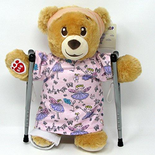 Hospital Honey (Lil Honey Cub Teddy Bear in Hospital Gown Crutch Cast Bandage)