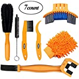 SINGARE 7pcs Bicycle Cleaning Tools Set, Bicycle Clean Brush Kit Suitable Mountain, Road, City, Hybrid, BMX Folding Bike