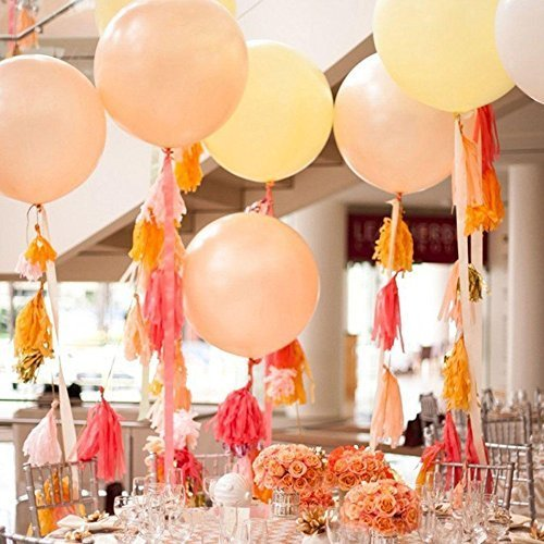 5Pcs Tissue Tassels Paper Garlands Bunting for Wedding Party Decoration