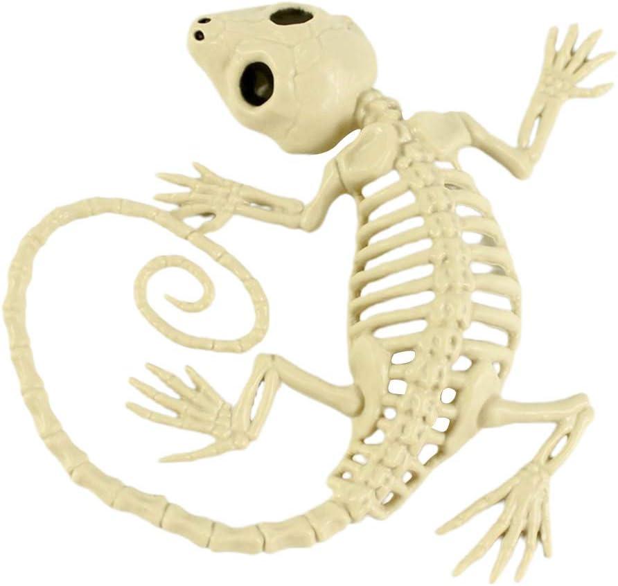 better18 Halloween Festival Skeleton Animal Decoration, Gecko Skeleton Bones Prop, for Halloween Party Decoration - 20.3x15.2x3.2cm