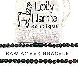 Raw Amber Teething Bracelet for Babies (Unisex) Teething Pain Relief - Certified Genuine Baby Baltic Amber Anklet (Dark Cherry)