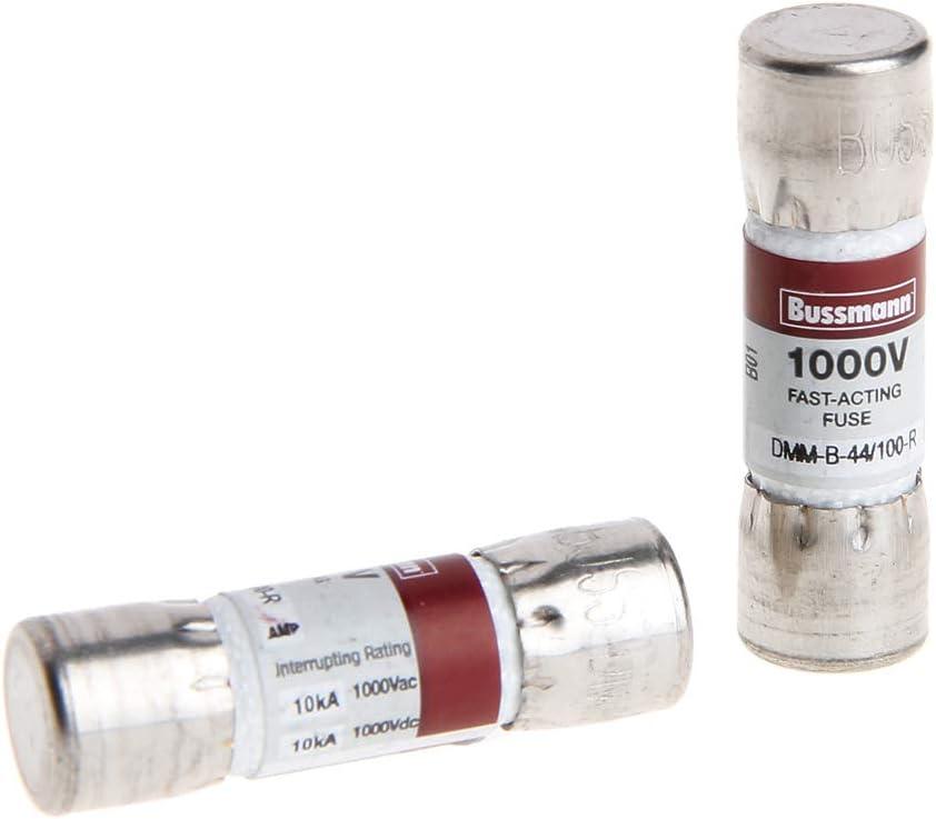 ATATMOUNT 2 Piezas DMM-B-44//100 10x35MM 44MA 1000VAC DC Fusible de Bus para mult/ímetro Fluke BUSSMANN