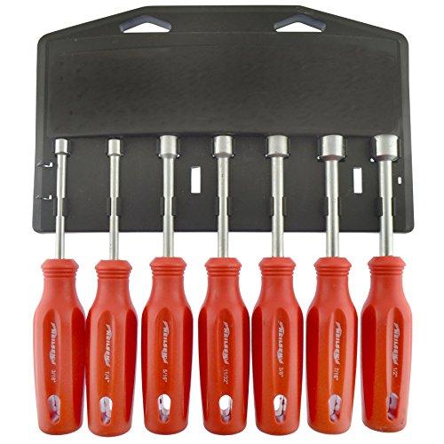 (Nut Driver Spinner Screwdriver Tool Set Imperial / AF / SAE sizes 3/16