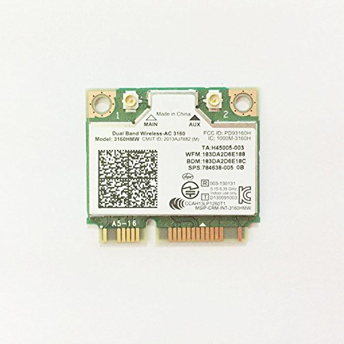 Dual Band Wireless-AC 3160 AC3160 3160 AC WiFi + Bluetooth 4.0 Mini PCIe card 3160HMW USE FOR INTEL 3160AC Supports 2.4 and 5.8Ghz A/B/G/N & AC by PJCARD