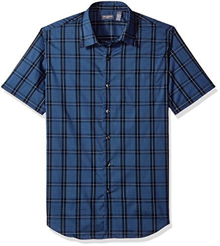 Van+Heusen+Men%27s+Flex+Stretch+Short+Sleeve+Non+Iron+Shirt%2C+Blue+Monday+Window%2C+Large
