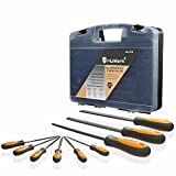 MulWark 9pcs Premium Grade Tempered High Carbon Steel Carpenter File Kit-Round Rasp Half Round Flat&Mini Needle Files Set-Best Assortment Tools To Shape,Sharpen,De-burr Hobby Models,Soft Metals&Woods