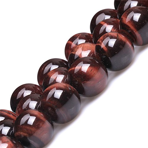 Red Tiger Eye Beads for Jewelry Making Natural Gemstone Semi Precious 16mm Round 15