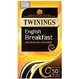 Twinings - 50 x Sachets de Thé English Breakfast - 125g