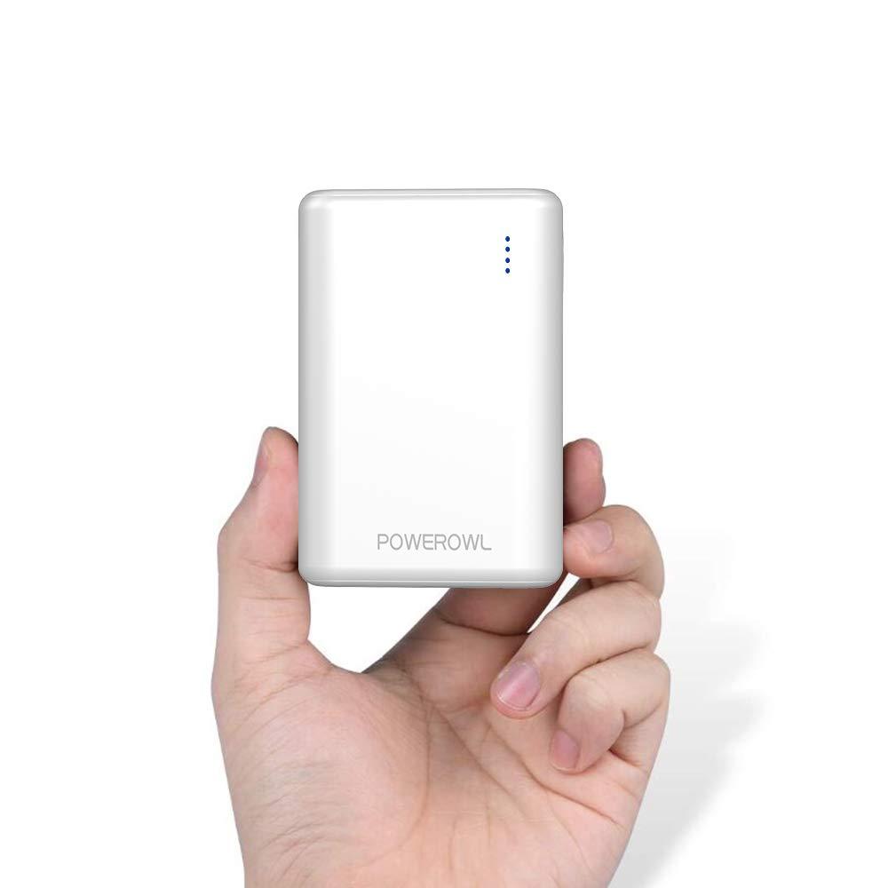 POWEROWL Powerbank 10000mAh, Bateria Portatil para Movil, Cargador Portátil con Dual Salida USB para Huawei, iPhone, Samsung, Tablets, Xiaomi y más ...