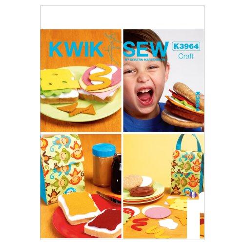 KWIK-SEW PATTERNS K3964 Play Food Sewing Template,