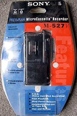 Sony Pressman Micro-Cassette Recorder M-527v from Sony