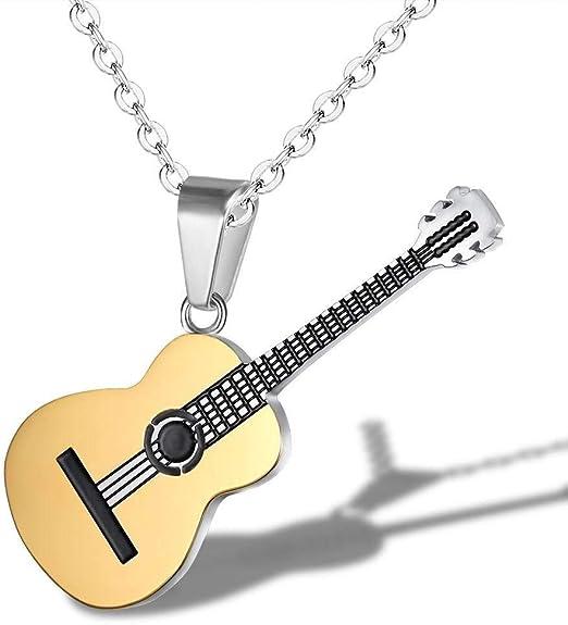 Amolvgtrt Nueva joyería Creativa Cadena Colgante música Guitarra ...