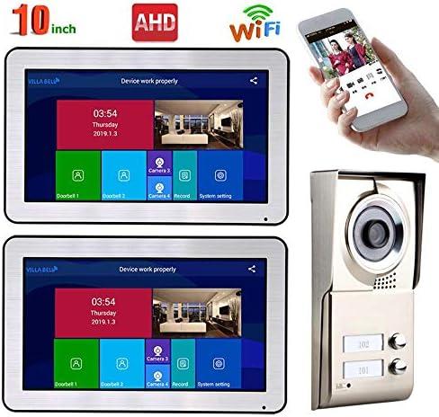ビデオインターホンシステム2つのアパート10インチ・レコード有線AHD 720Pビデオドア電話インターホンシステム
