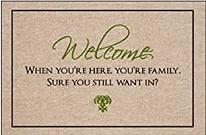High Cotton Doormat - Welcome, When You're Here, You're Family