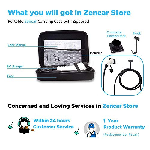 Zencar Level 2 EV Charger(240V, 16A, 25ft), Portable EVSE Home Electric Vehicle Charging Station Compatible with Chevy Volt, Nissan Leaf, Fiat, Ford Fusion(NEMA 6-50 Plug) by Zencar (Image #6)