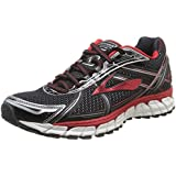 Brooks Men's Adrenaline GTS 15 Shoes Black / High Risk Red / Anthracite 8 / D