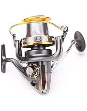 YONII Carrete de Pesca Spinning 12 + 1BB 13 rodamientos de BolasIntercambiable Izquierda/DerechaLJ3000-9000 Super Big Sea Fishing Rueda de Playa Rueda giratoria de Metal Alta Velocidad