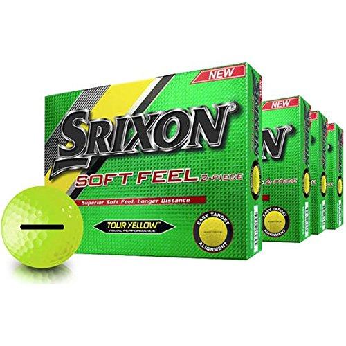 Srixon Soft FeelイエローPersonalizedゴルフボール – Buy 3 DZ Get 1 Free – Thick id-align   B079XVBSHX
