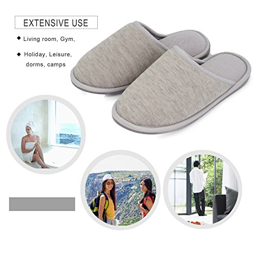Slipper Gray Lightweight Slippers Skid Anti Moodeng Home Memory Women for Foam Shoes Ladies Men Indoor House Slide Washable T8xO1wOq5a